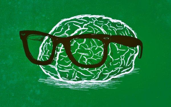 Humor Nerd Brain Green HD Wallpaper   Background Image