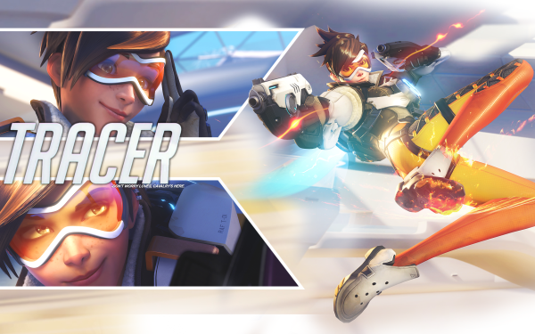 Video Game Overwatch Tracer Blizzard Entertainment Lena Oxton Gun HD Wallpaper   Background Image