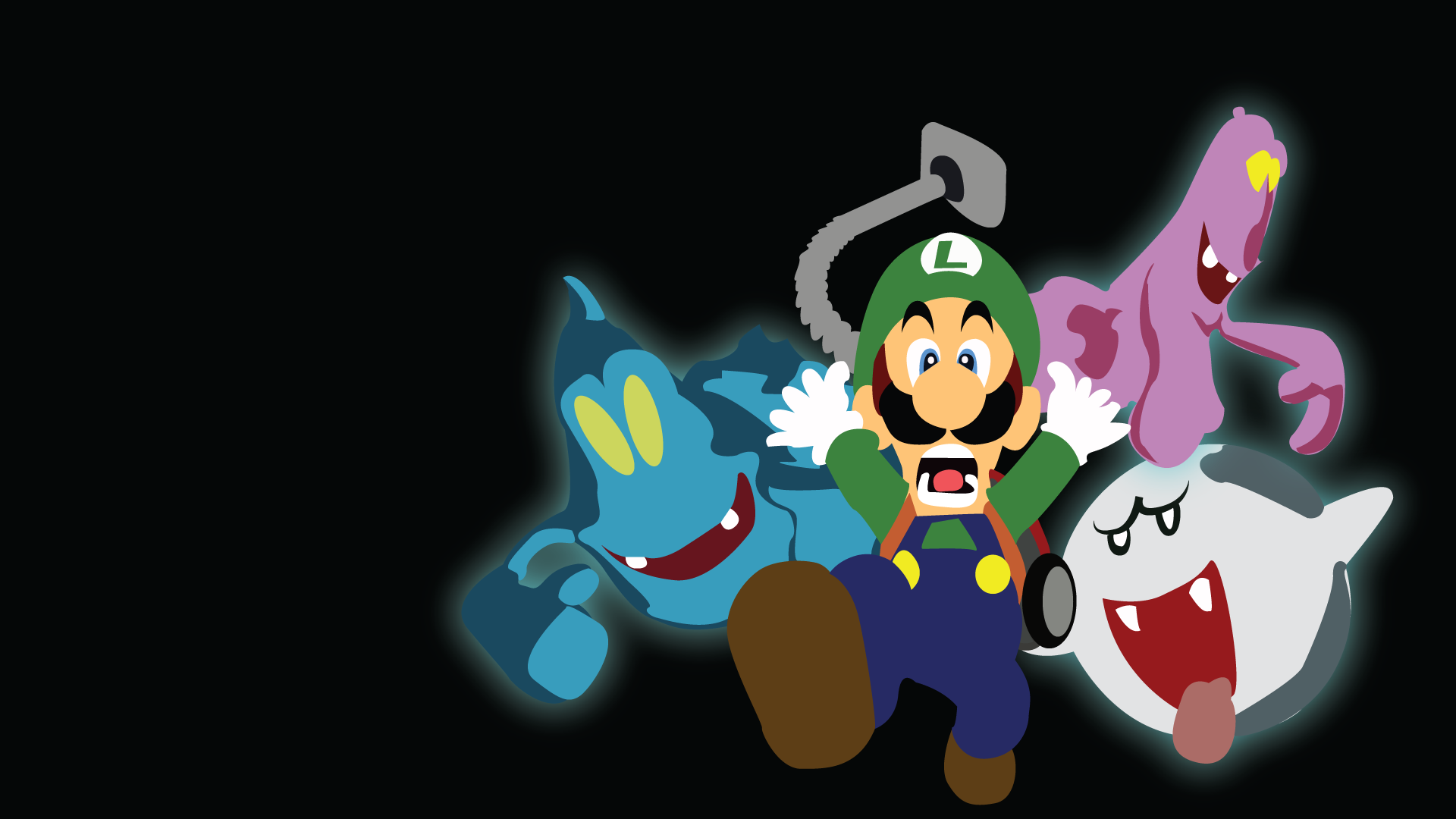 luigi s mansion ipad wallpaper