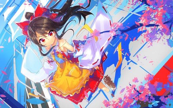 Anime Touhou Reimu Hakurei HD Wallpaper   Background Image