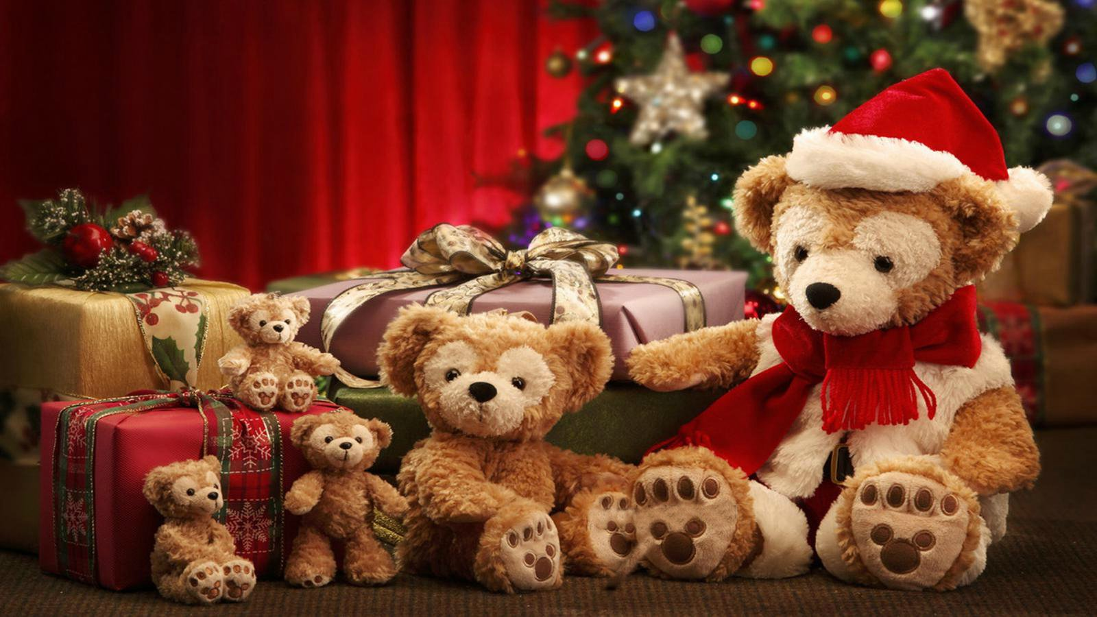 Christmas Teddy Bear Wallpaper: Christmas Wallpaper And Background Image