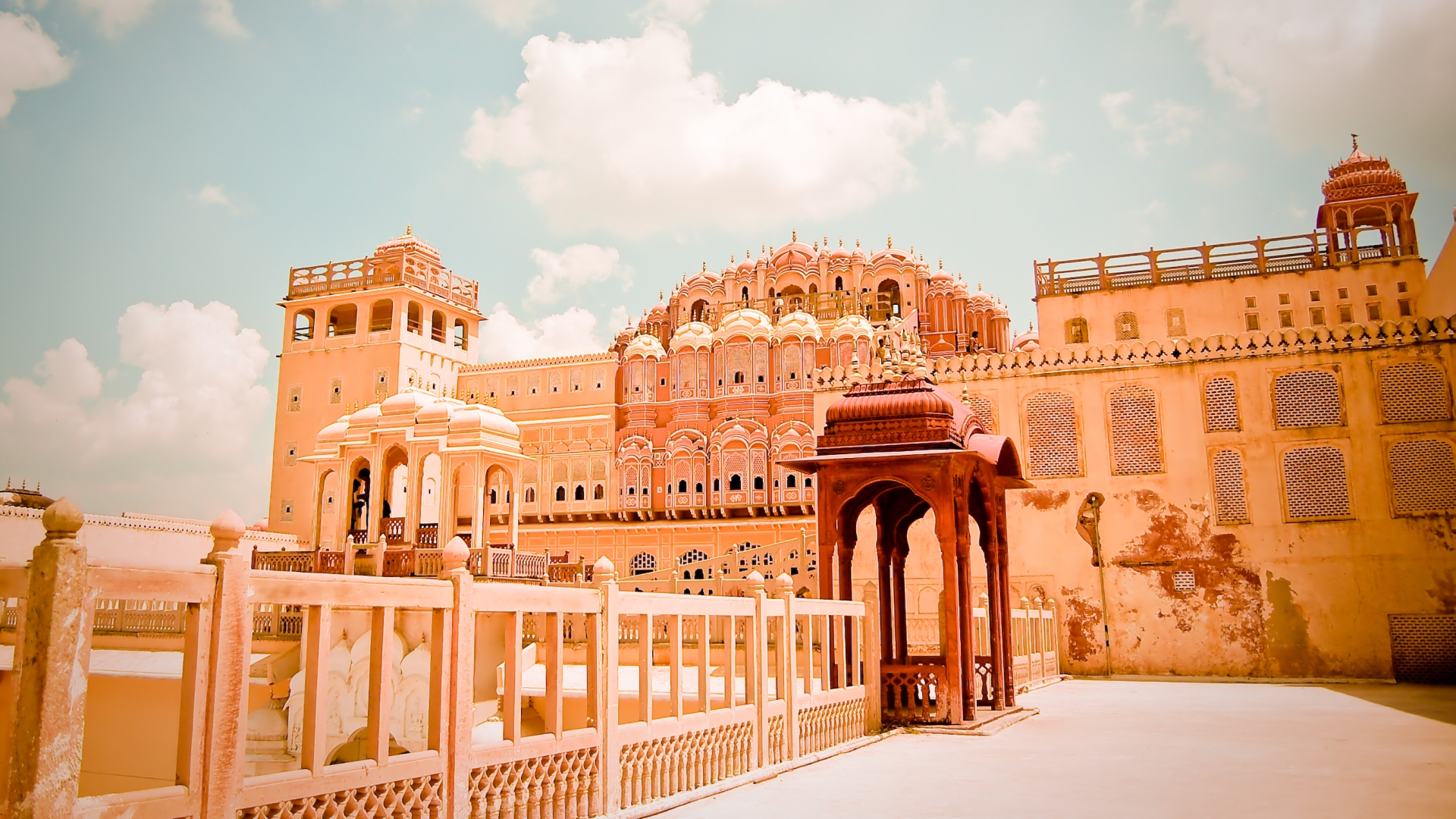 Hawa mahal full hd wallpaper and background 1920x1080 for Wallpaper for home walls jaipur