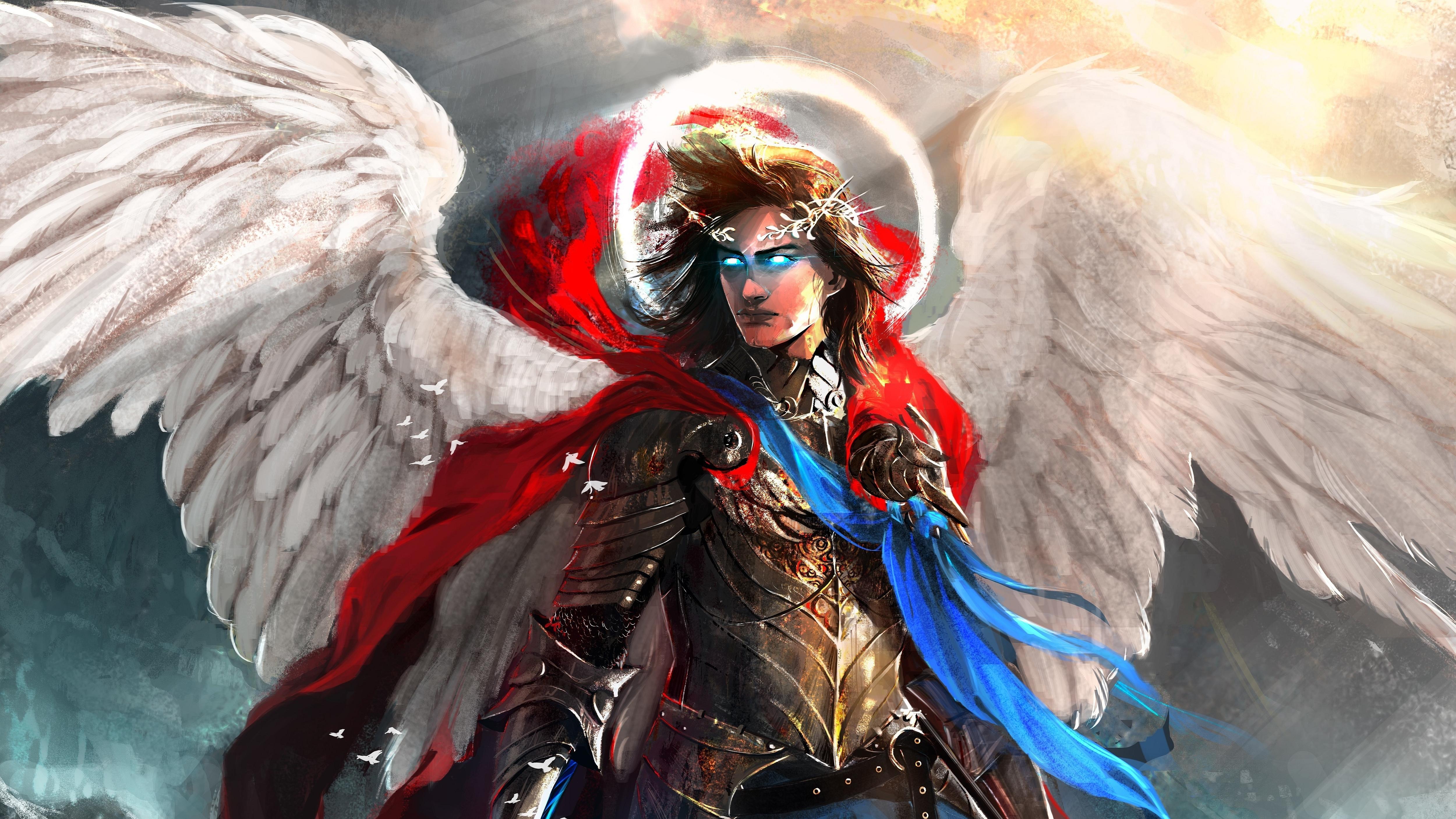 Warrior Fantasy Art Armor Angel Magic Wallpapers Hd: Angel Warrior 4k Ultra HD Wallpaper