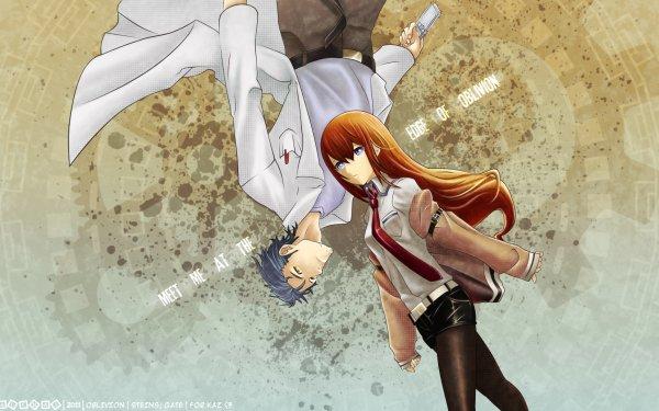 Anime Steins;Gate Kurisu Makise Rintaro Okabe HD Wallpaper   Background Image