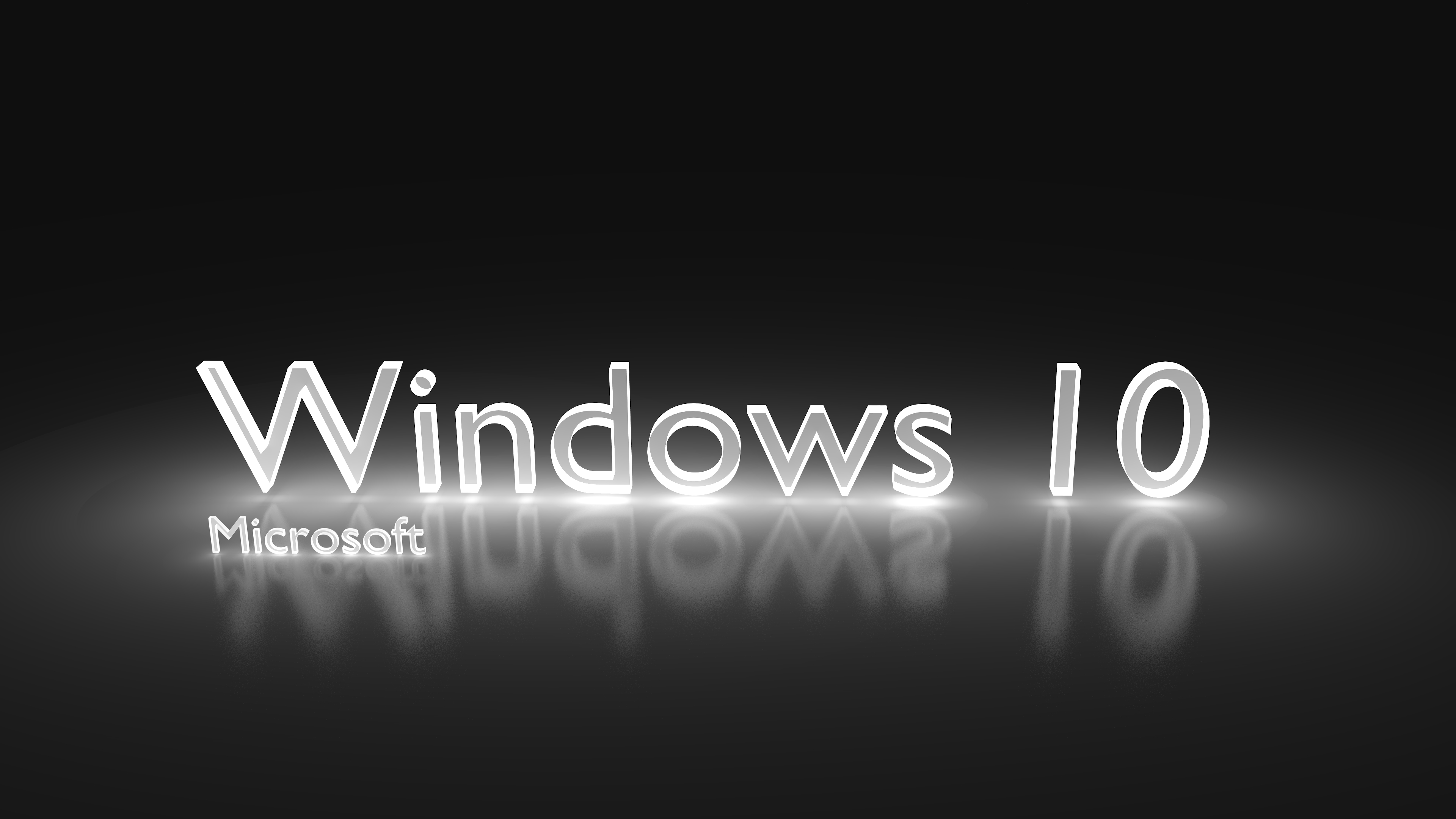 Windows 10 Glowing White 4k Ultra Hd Wallpaper Hintergrund
