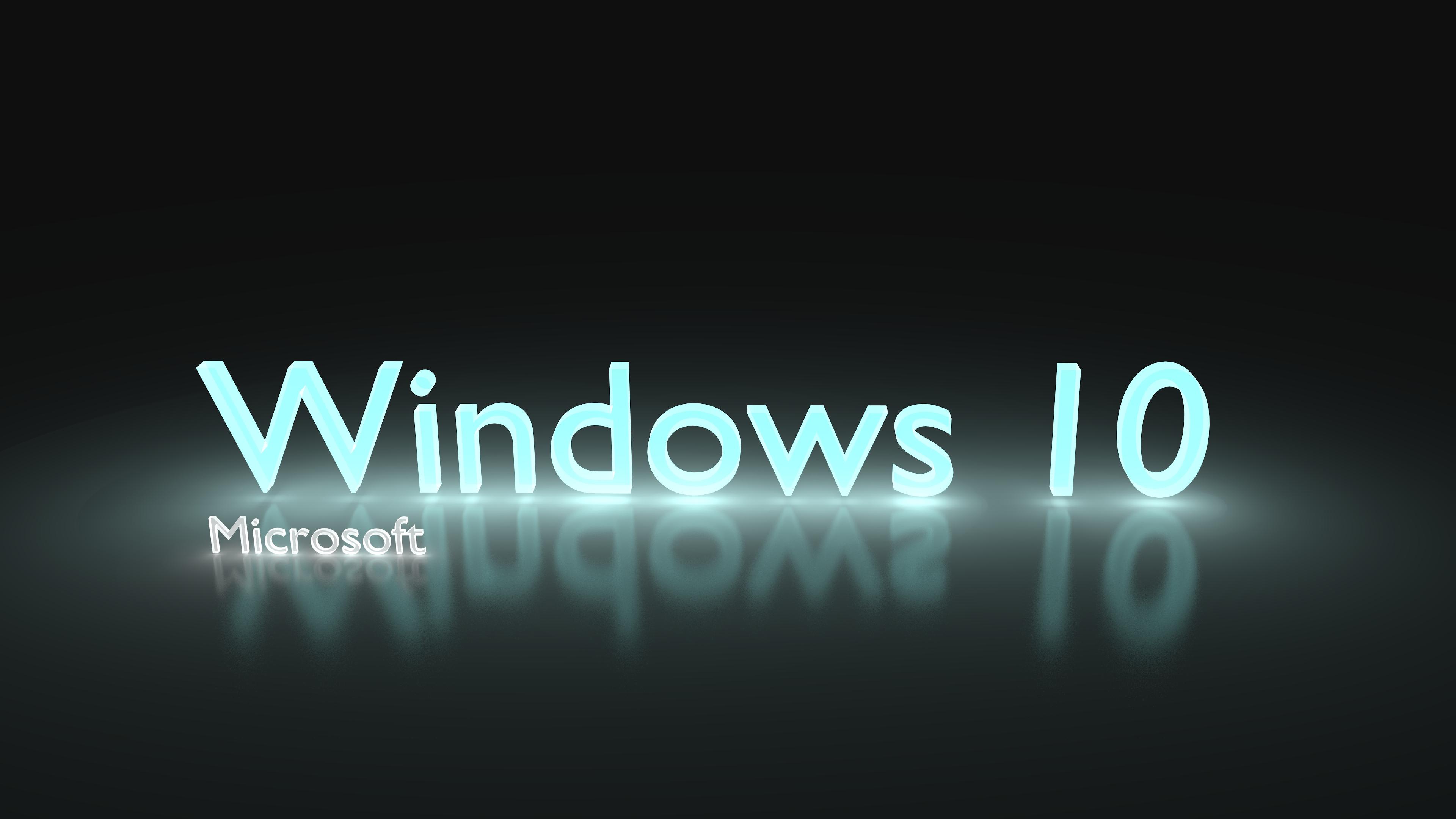 Windows 10 Glowing Light Blue 4k Ultra Papel De Parede HD