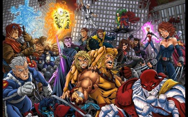 Comics Age Of Apocalypse Wolverine Gambit X-23 Sabertooth Nightcrawler HD Wallpaper | Background Image