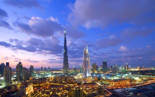 Man Made Dubai Cities United Arab Emirates Burj Khalifa City Sky Cloud HD Wallpaper | Background Image