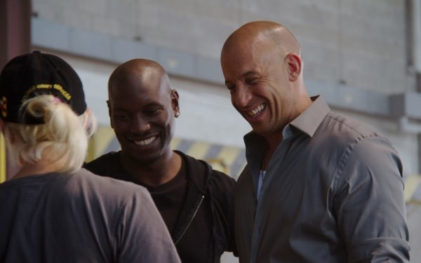 Movie Furious 7 Fast & Furious Vin Diesel Tyrese Gibson HD Wallpaper | Background Image