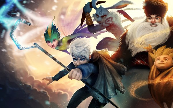 Movie Rise Of The Guardians Jack Frost Tooth North E. Aster Bunnymund Sandman HD Wallpaper | Background Image