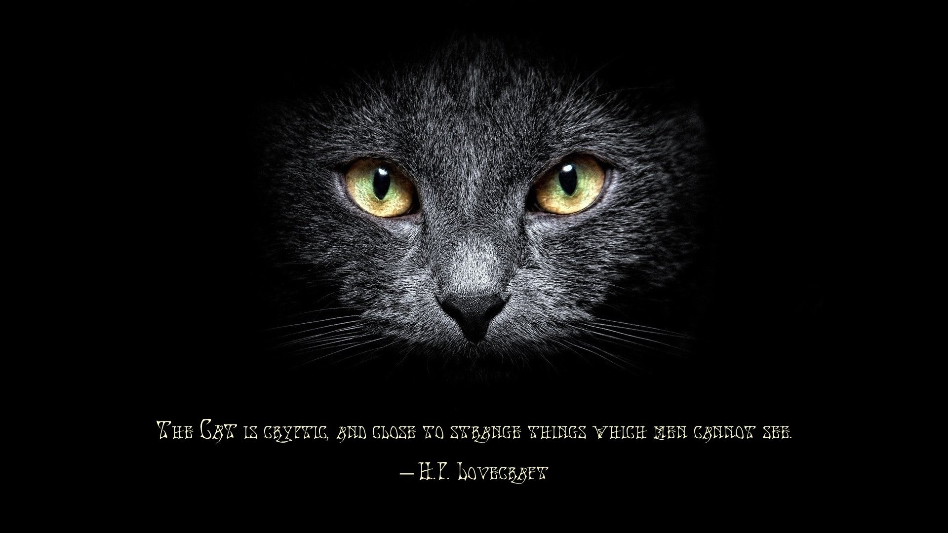 h.p. lovecraft quote hd wallpaper | background image | 1920x1080
