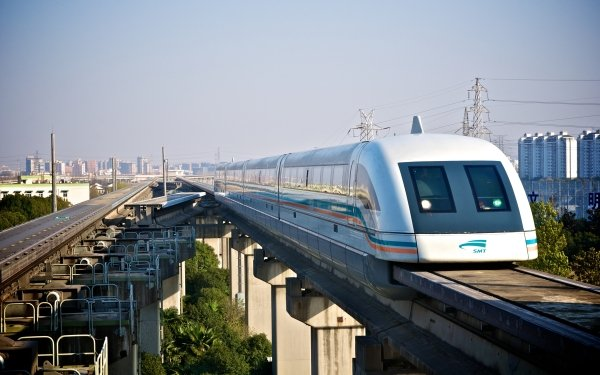 Vehicles MagLev Magnetic Levitation Train Shanghai HD Wallpaper | Background Image