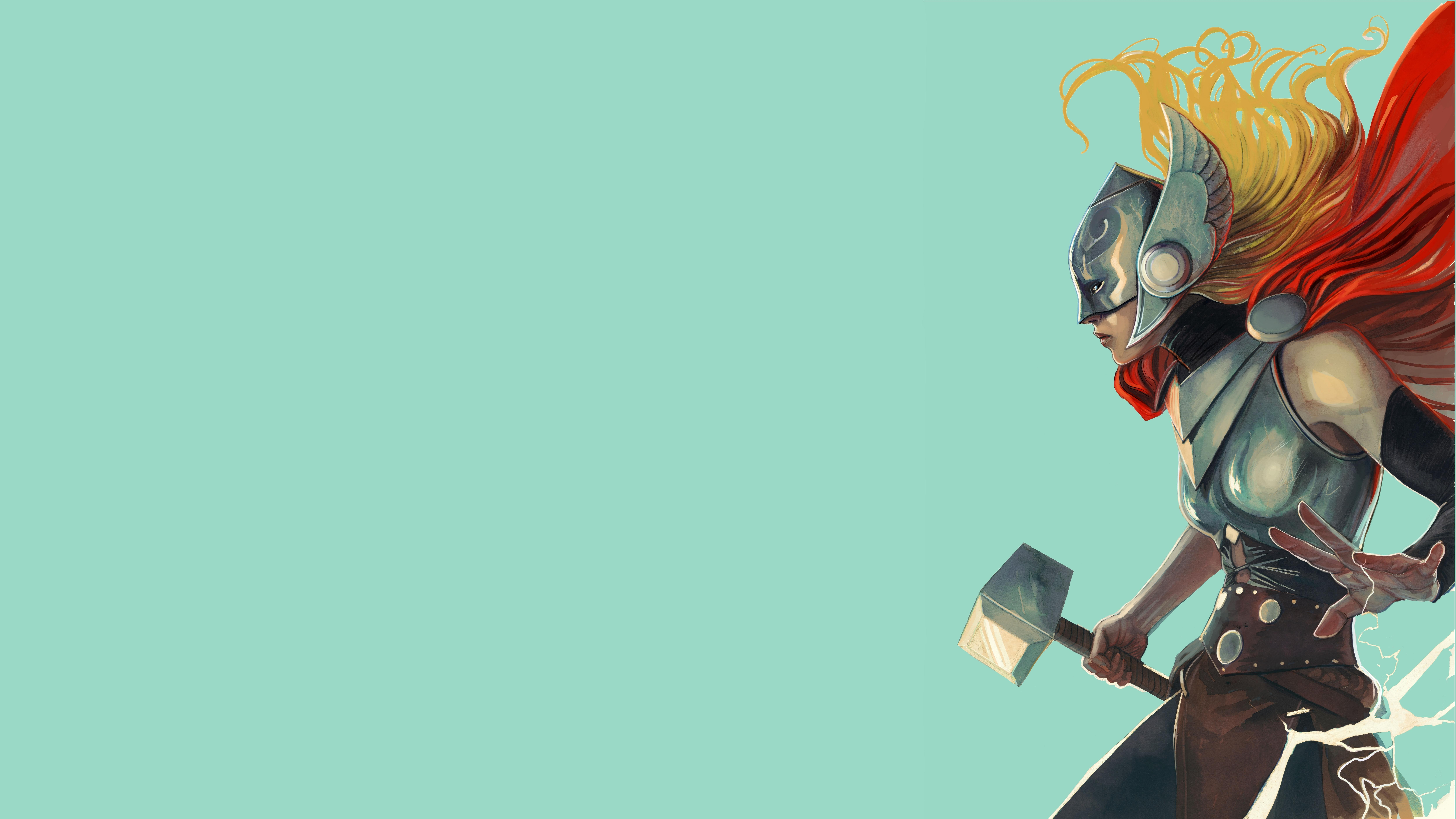 Lady thor 8k ultra hd wallpaper background image - Thor art wallpaper ...