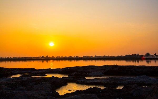 Earth Sunset Nature Landscape Lake Pakistan HD Wallpaper | Background Image