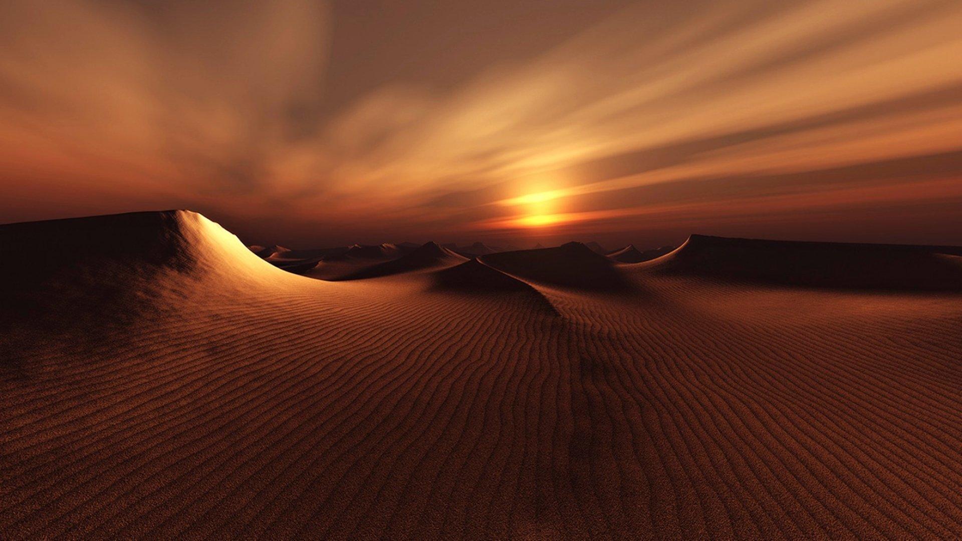 Earth - Sunset  Earth Nature Sand Dune Landscape Desert Wallpaper