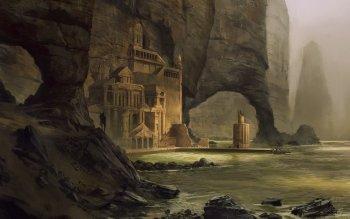 Fantasy Landscape Atlantis Scenery Haven HD Wallpaper | Background Image