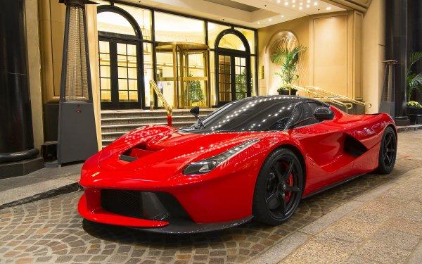 Vehicles Ferrari LaFerrari Ferrari Mansion Car Red Car Supercar HD Wallpaper | Background Image