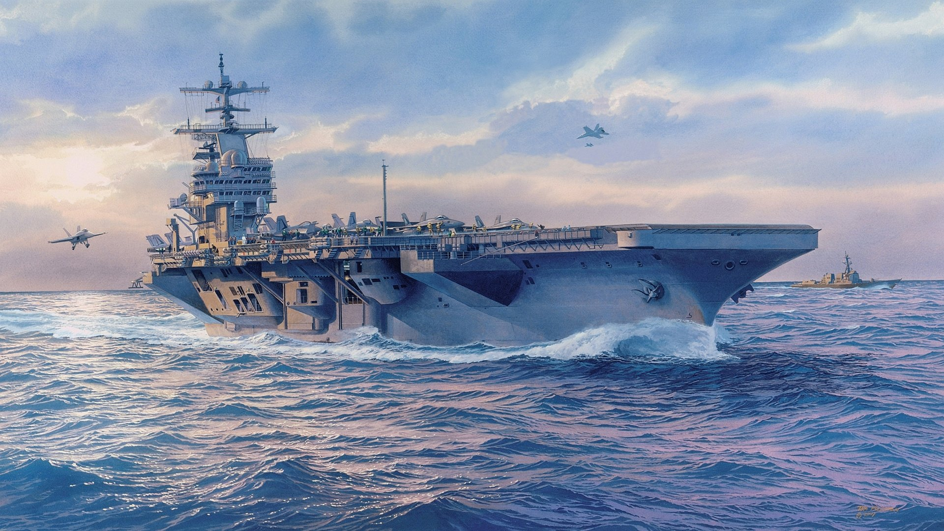 Military - USS George H.W. Bush (CVN-77)  Ship Aircraft Carrier Warship Wallpaper