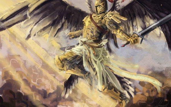 Fantasy Angel Warrior Warrior Sword Wings Armor HD Wallpaper | Background Image