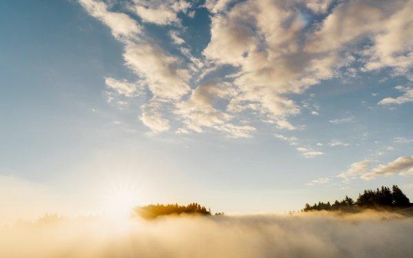 Earth Fog Nature Sunbeam Sky Cloud HD Wallpaper | Background Image