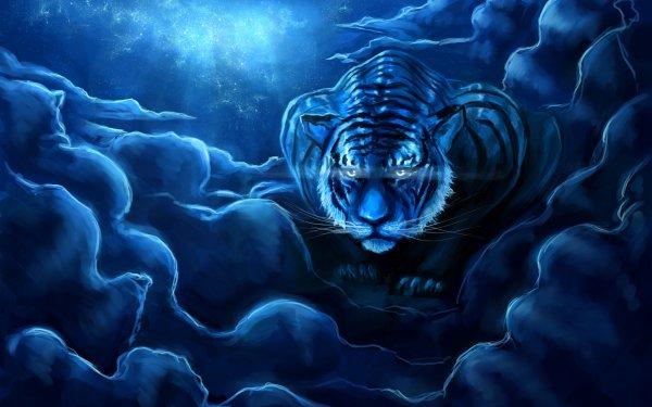 Fantaisie Tigre Animaux Fantastique Fond d'écran HD | Image