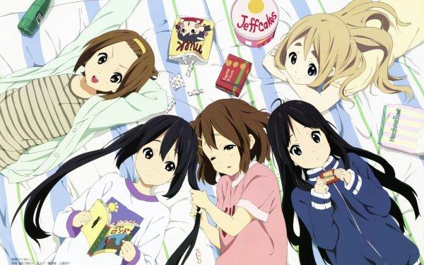 Anime K-ON! Mio Akiyama Yui Hirasawa Ritsu Tainaka Tsumugi Kotobuki Azusa Nakano Fondo de pantalla HD | Fondo de Escritorio