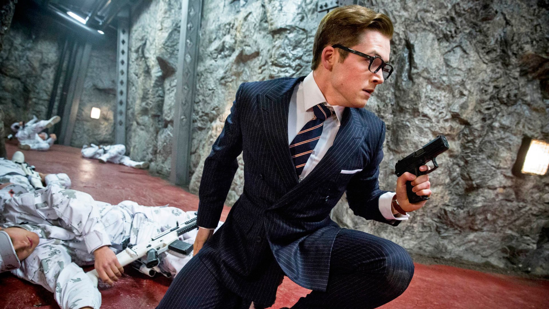 Kingsman The Secret Service Interview Taron Egerton: Kingsman: The Secret Service HD Wallpaper