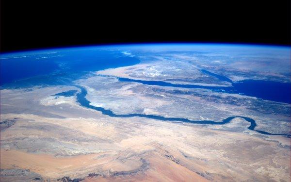Earth From Space Egypt Nile Sahara Africa Sinai Peninsula Mediterranean Red Sea HD Wallpaper | Background Image
