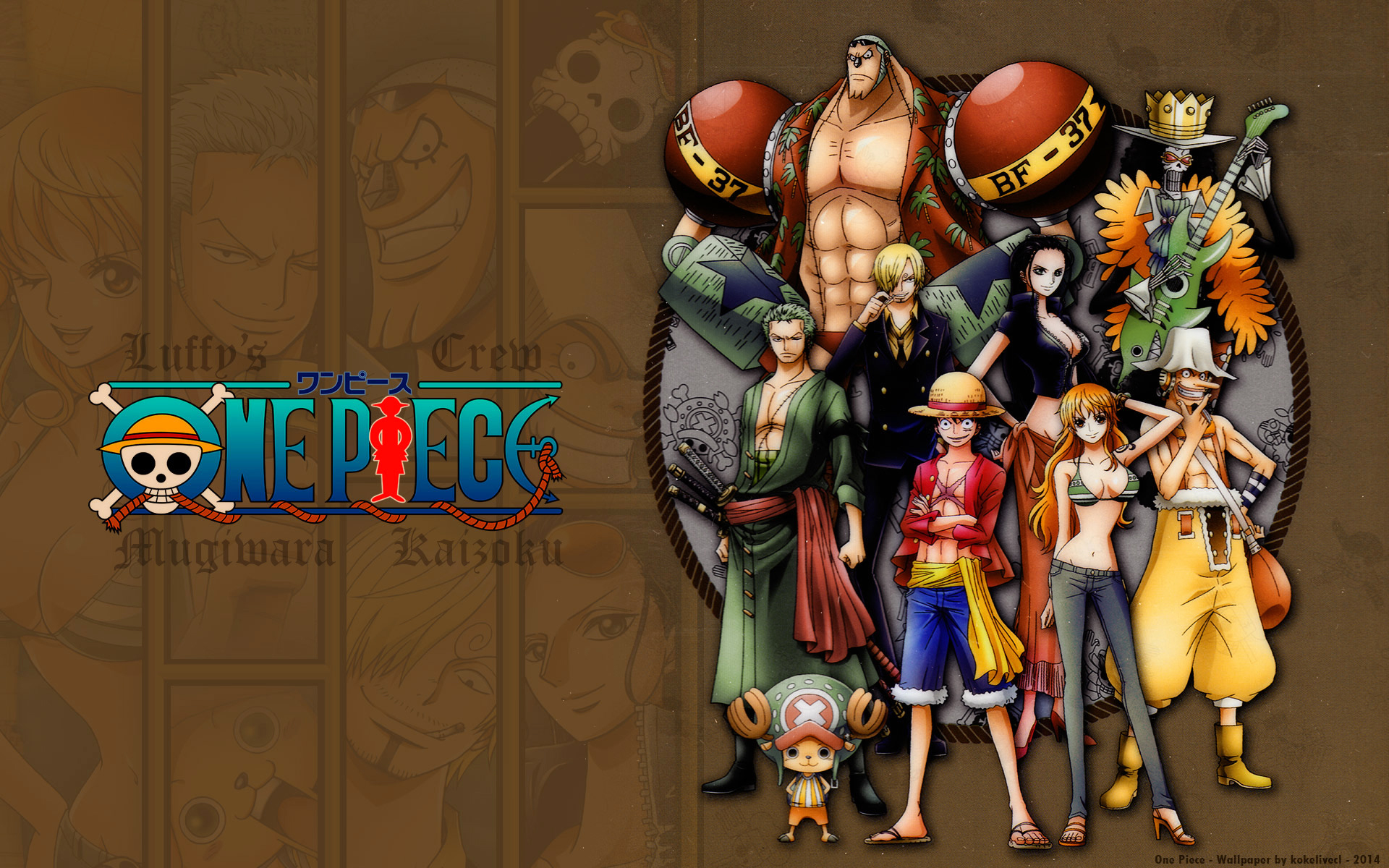 Luffy Pirate King And 8 Nakamas Generals Hd Wallpaper