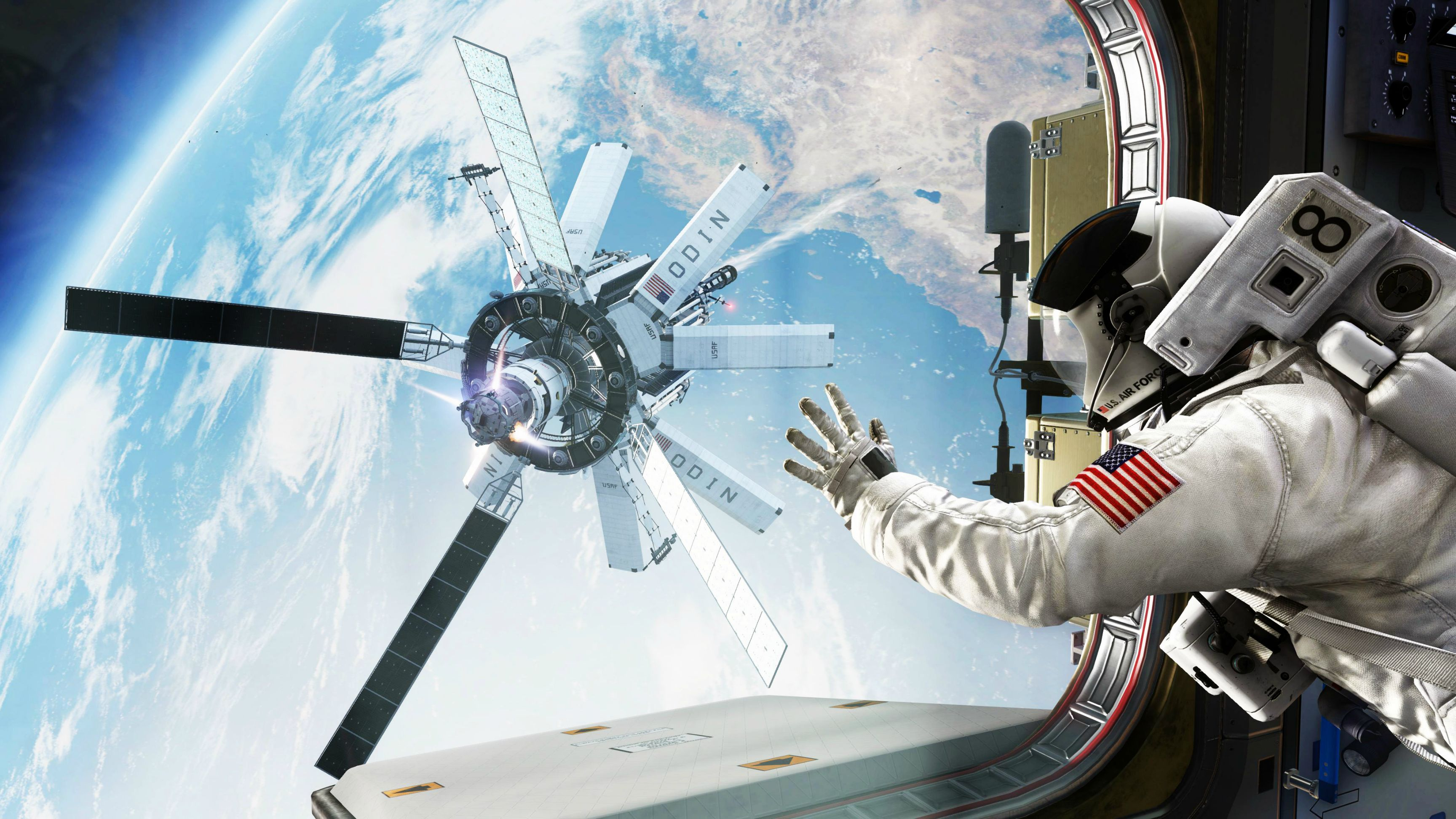 Space station hd wallpaper background image 3456x1944 - Space station wallpaper ...