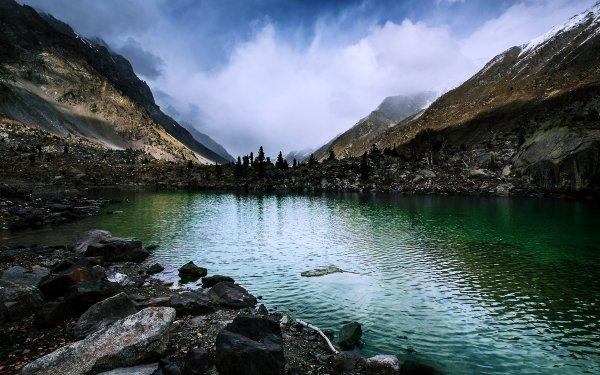Earth Lake Lakes Mountain Water Nature Landscape Pakistan Rock Stone HD Wallpaper | Background Image