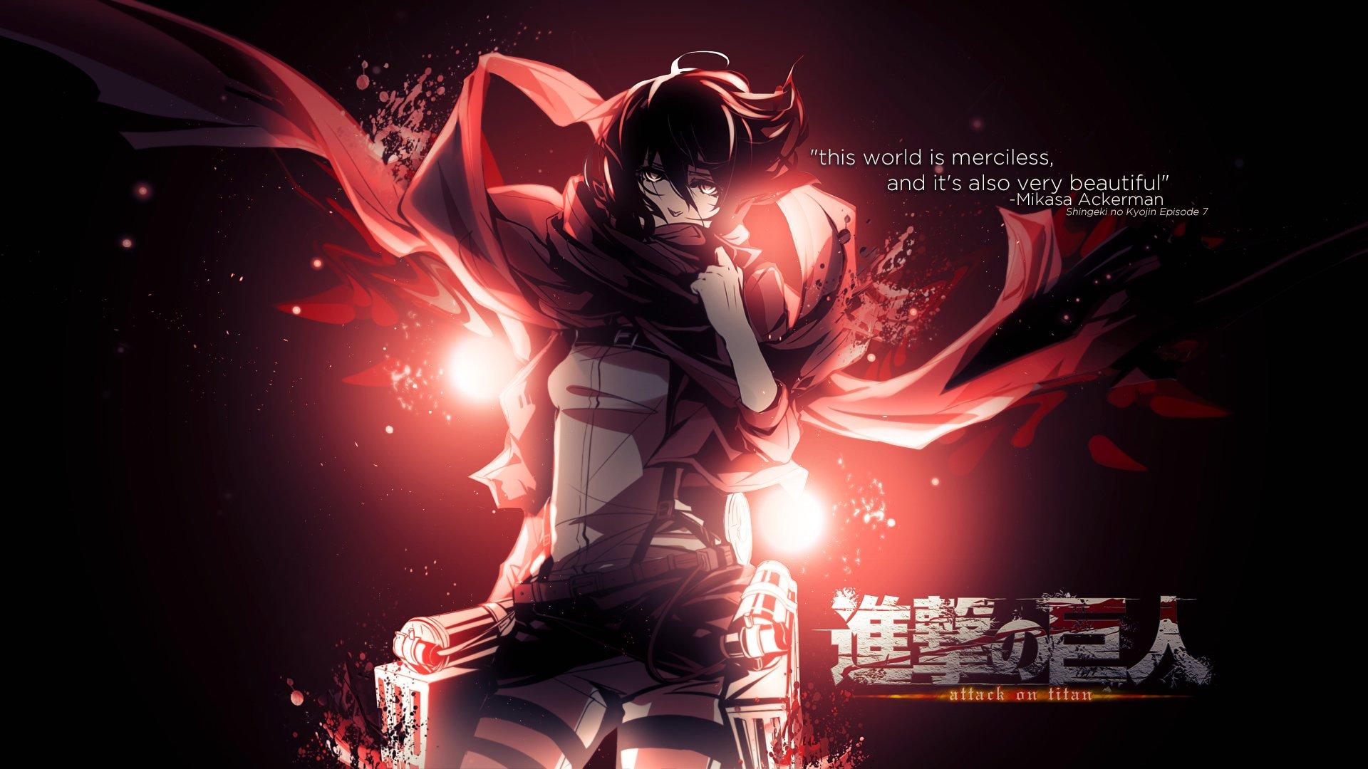 Shingeki No Kyojin Mikasa Ackerman Hd Wallpaper