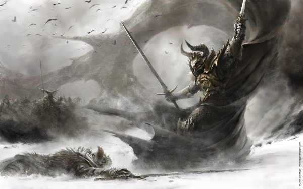 Fantasy Warrior Duel Sword Armor HD Wallpaper | Background Image