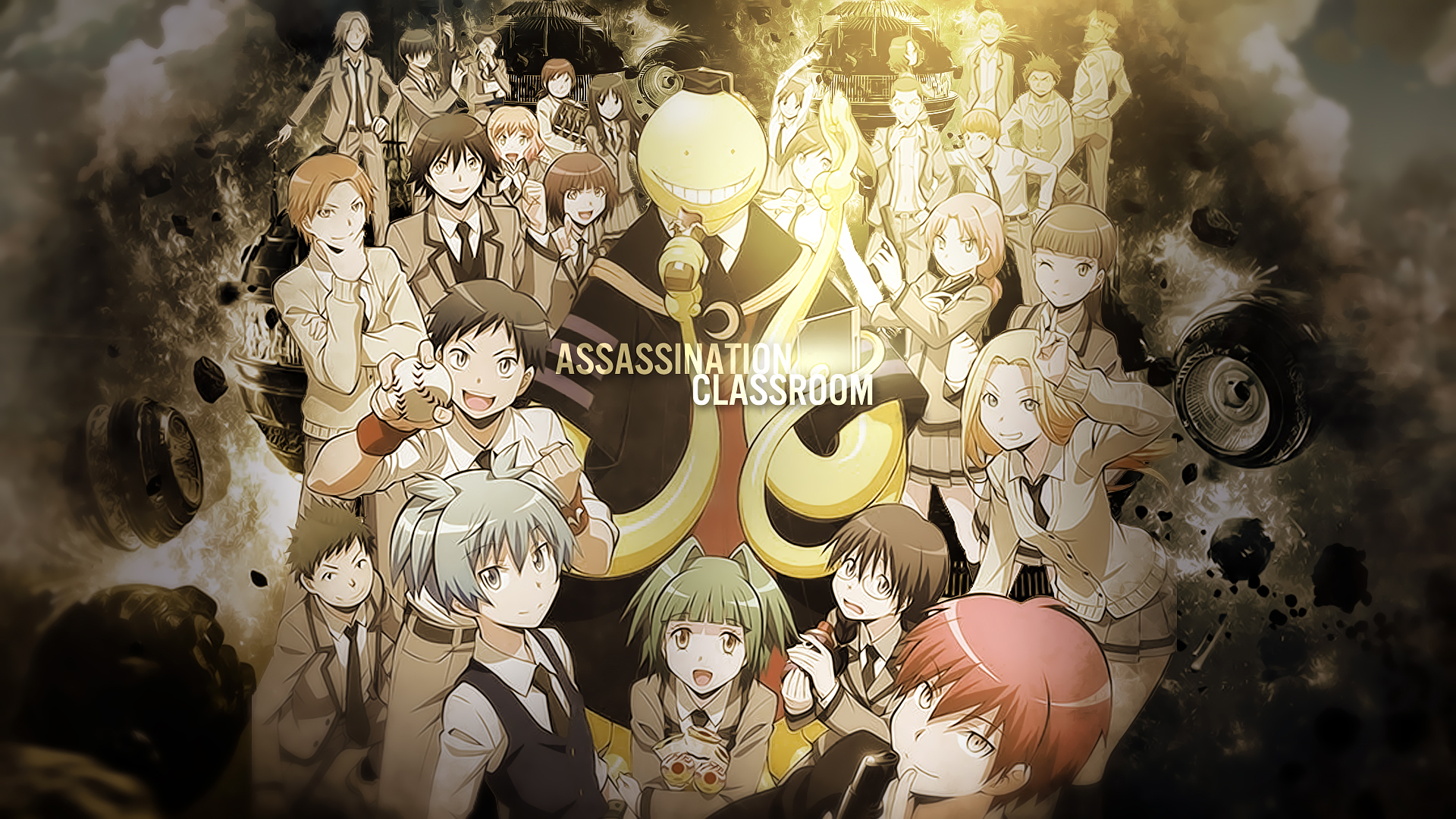 assassination classroom poster full hd wallpaper and