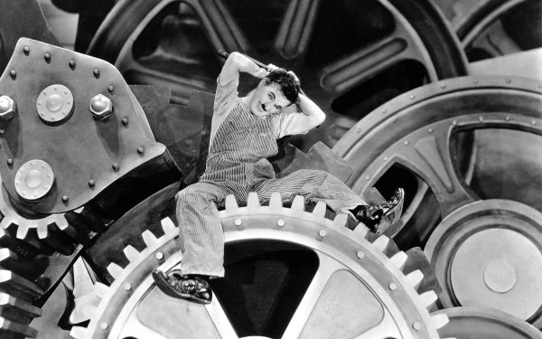 Movie Modern Times Black & White Charlie Chaplin HD Wallpaper   Background Image