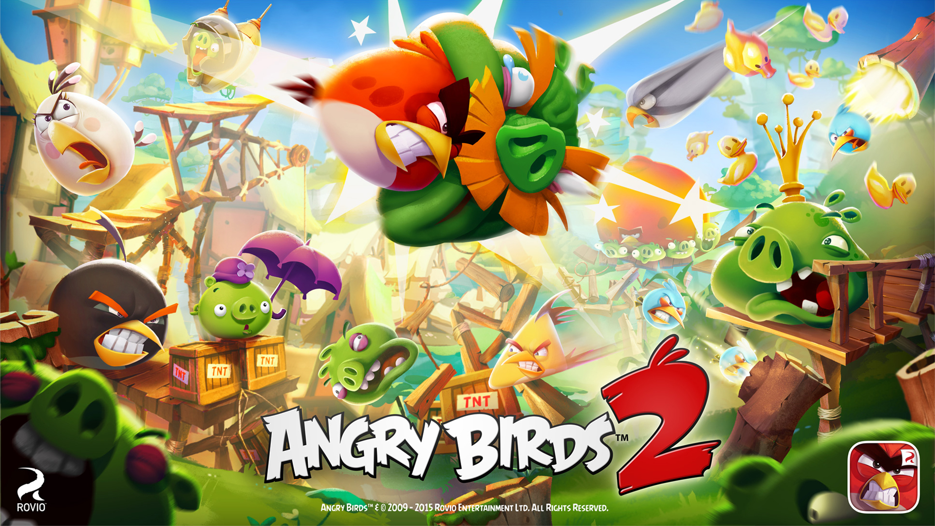 Angry birds 2 full hd wallpaper and background image 1920x1080 video game angry birds 2 wallpaper voltagebd Images