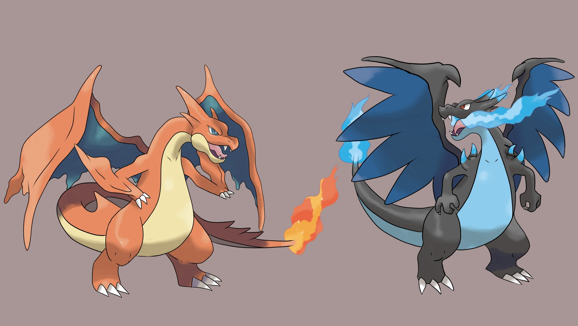 Charizard and mega charizard 5k retina ultra fondo de - Pokemon mega evolution y ...