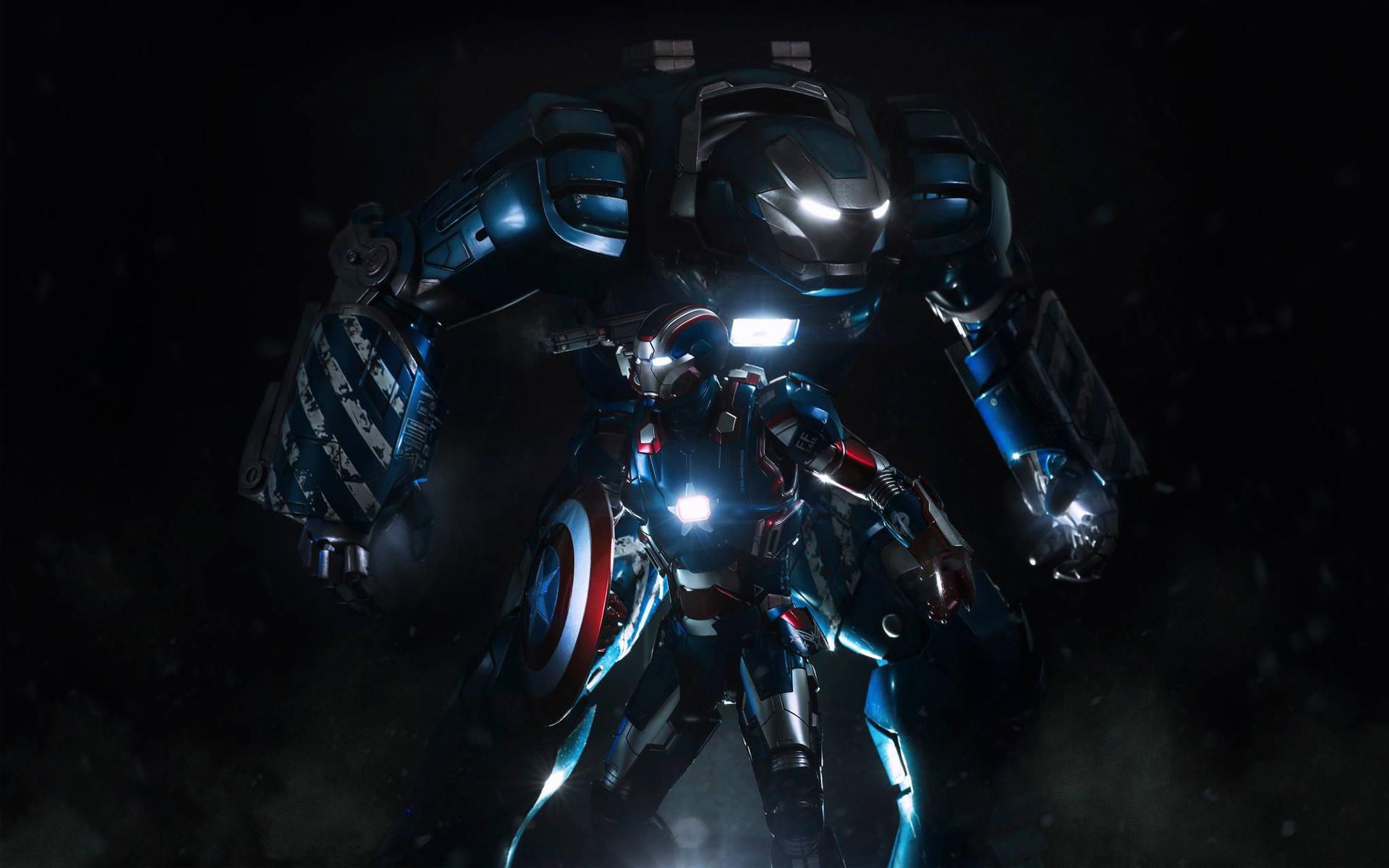 Films iron man 3 iron patriot fond d 39 cran for Plan d iron man