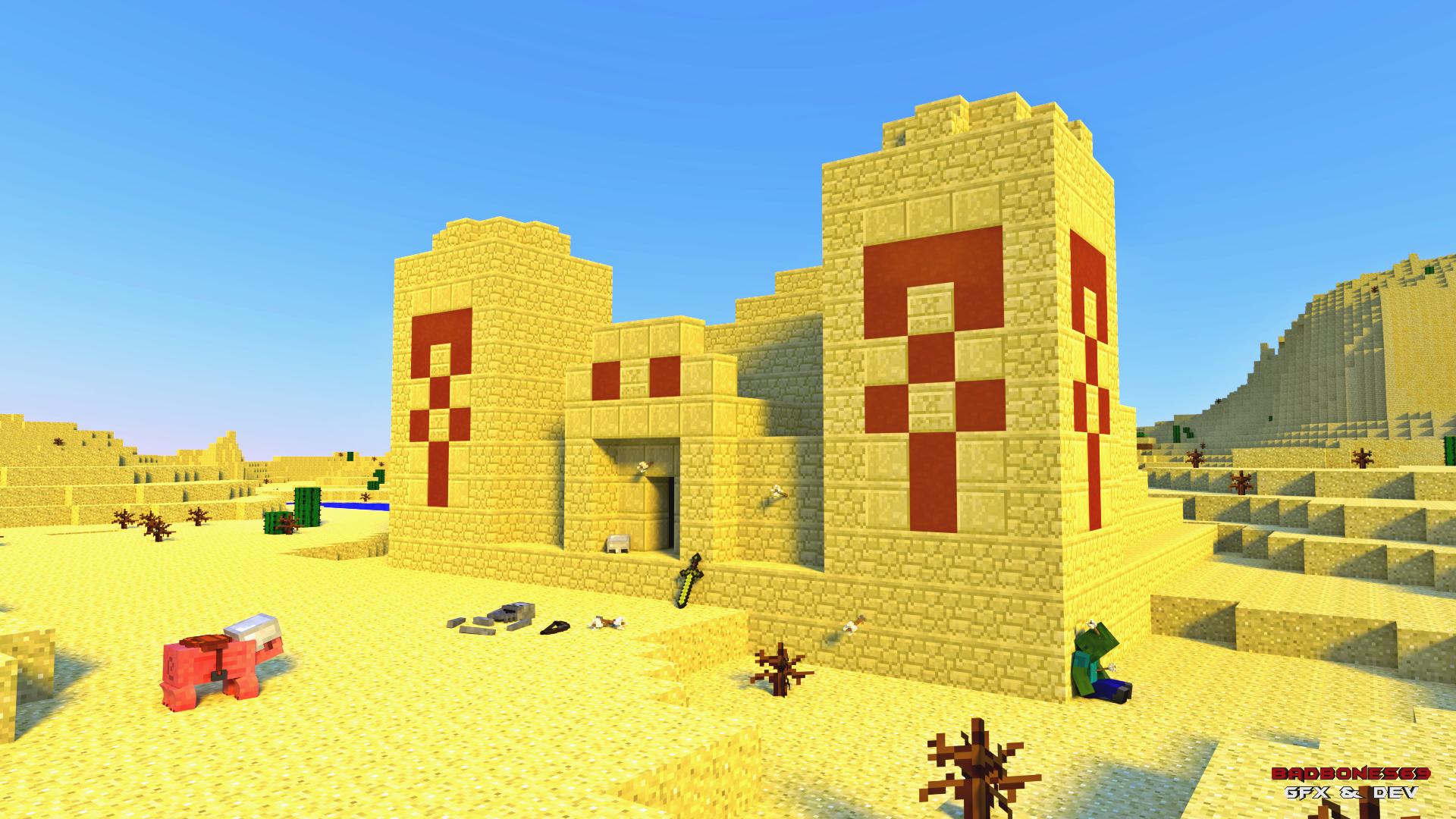 Minecraft Desert Temple Wallpaper Hd Wallpaper Background