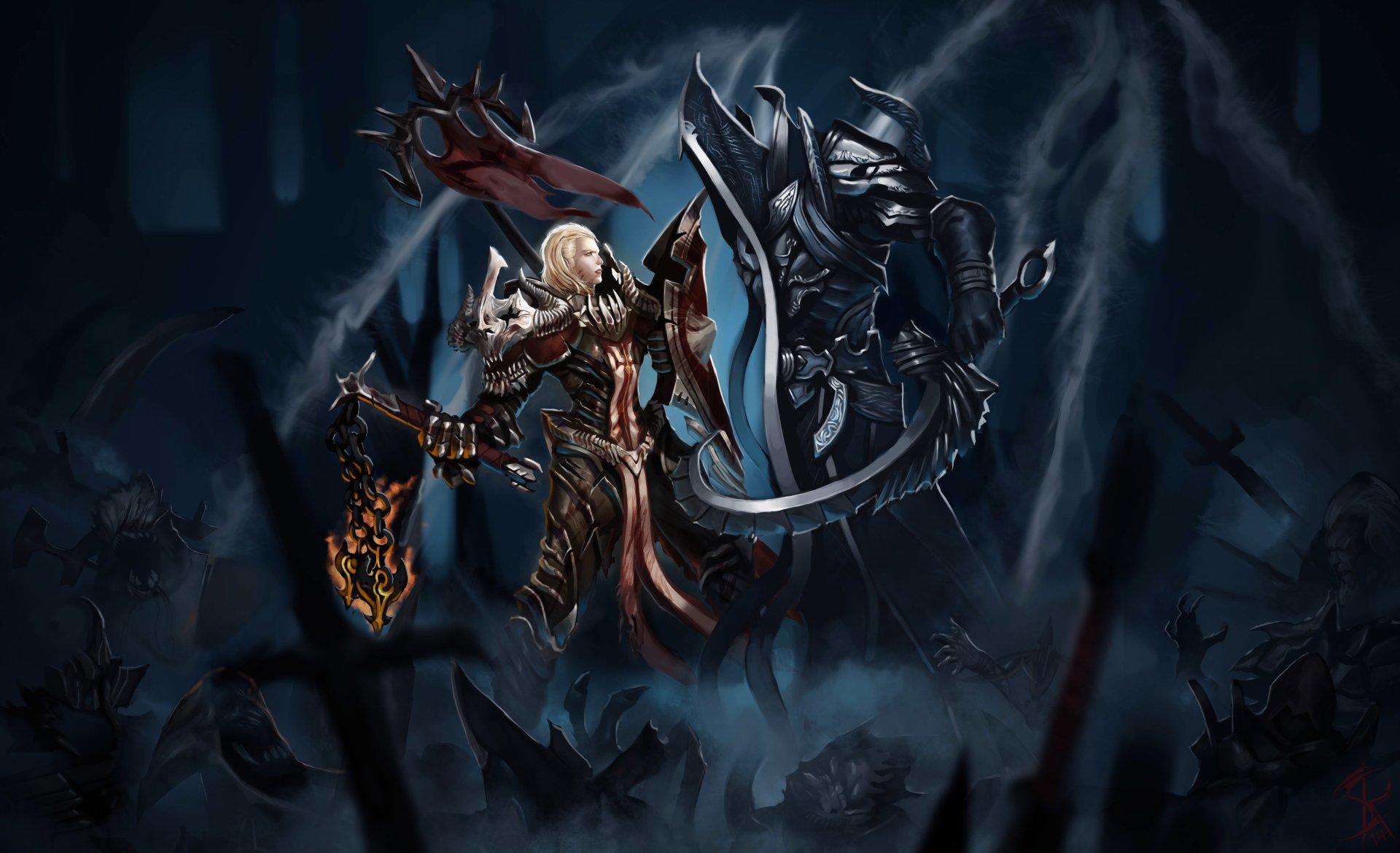 Video Game - Diablo III: Reaper Of Souls  Malthael (Diablo III) Crusader (Diablo III) Wallpaper