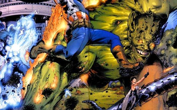Comics Avengers The Avengers Captain America Wasp Janet van Dyne Green Goblin Thor Electro Ultimates HD Wallpaper   Background Image