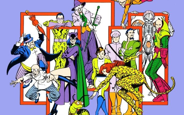Comics DC Comics Penguin Riddler Joker Cheetah Catwoman HD Wallpaper | Background Image