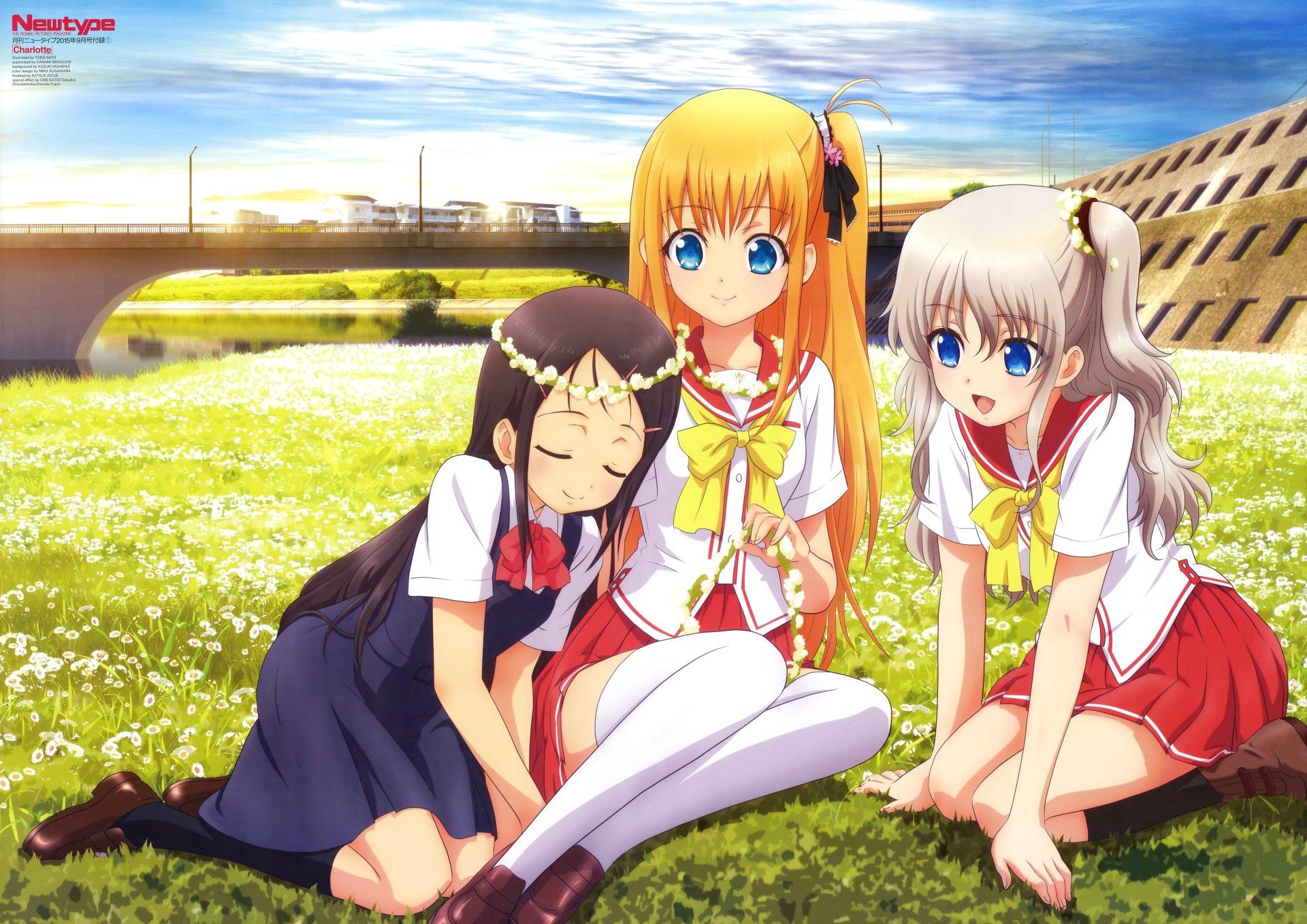 Anime - Charlotte  Ayumi Otosaka Yusa Nishimori Nao Tomori Charlotte (Anime) Wallpaper