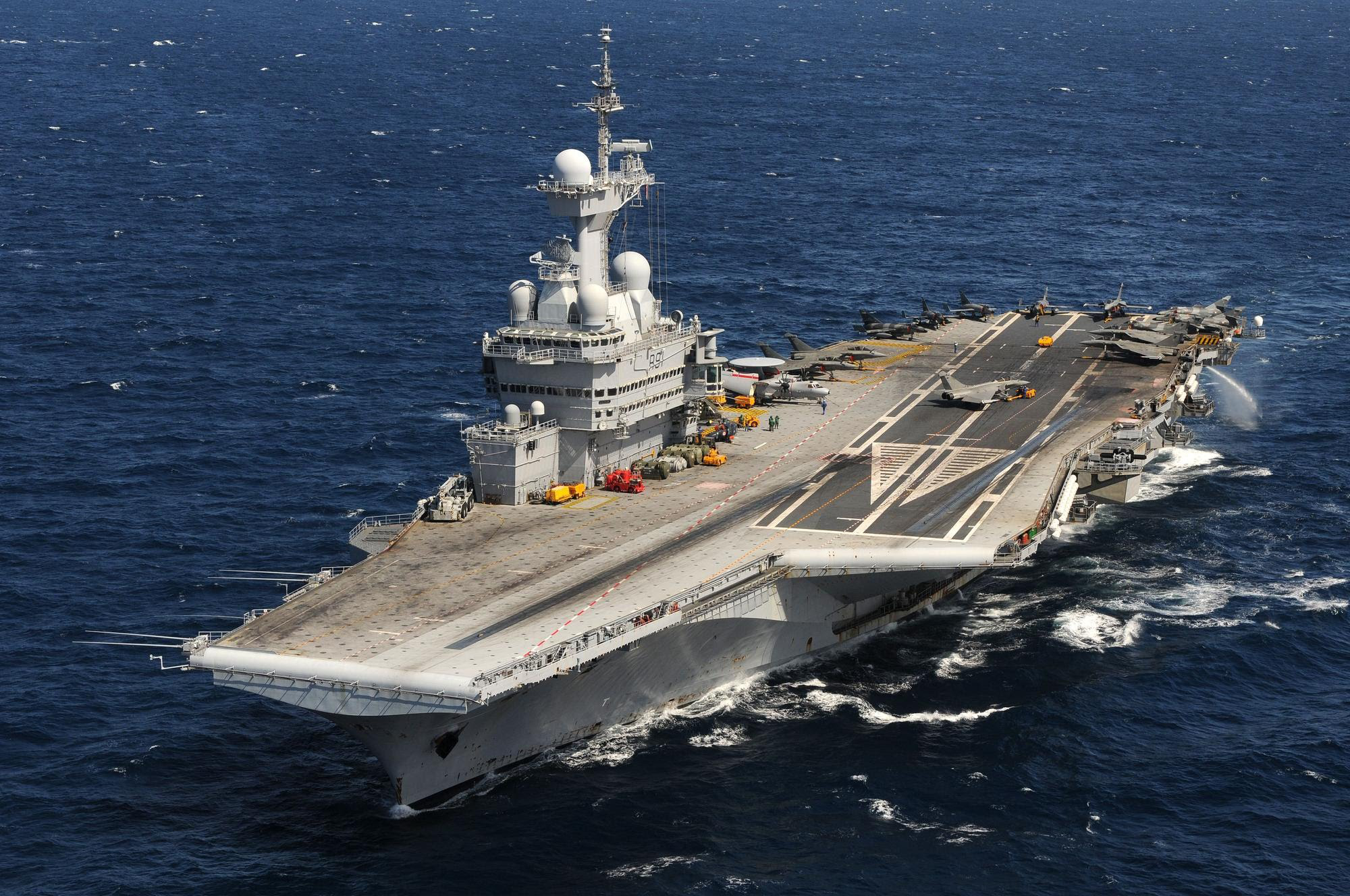 French Aircraft Carrier Charles De Gaulle R91 Computer Wallpapers Desktop Backgrounds