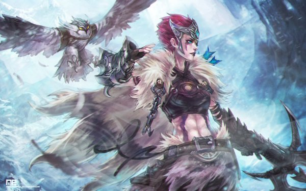 Fantasy Women Warrior League Of Legends Quinn Valor HD Wallpaper | Background Image