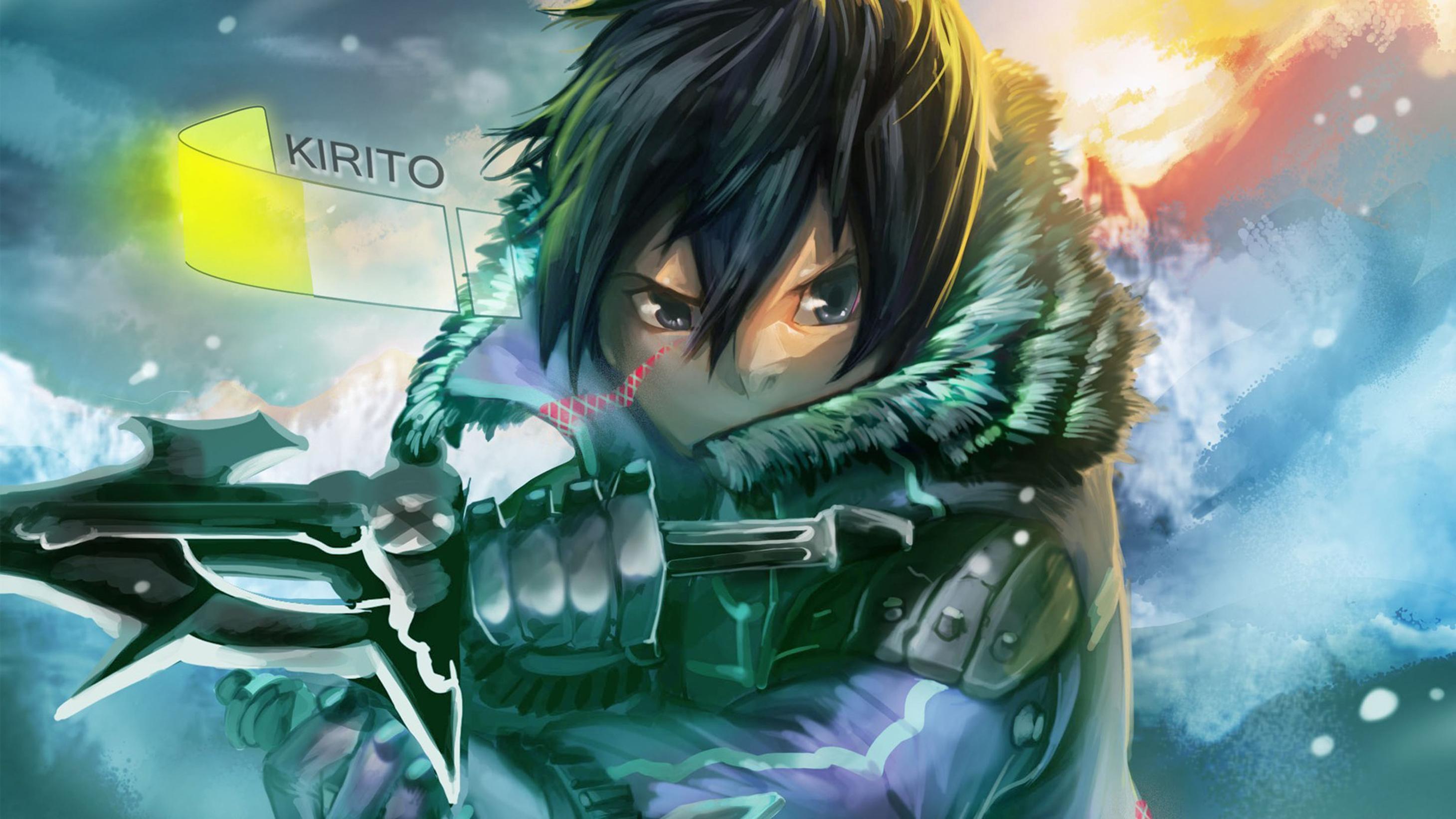 Anime Asuna Yuuki Kirigaya Kazuto Kirito Sword Art Online HD Wallpaper