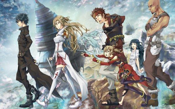 Anime Sword Art Online Kirito Asuna Yuuki Silica Klein Yui Agil Aincrad HD Wallpaper | Background Image