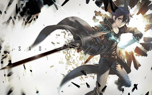Anime Sword Art Online Kirito Kazuto Kirigaya HD Wallpaper | Background Image