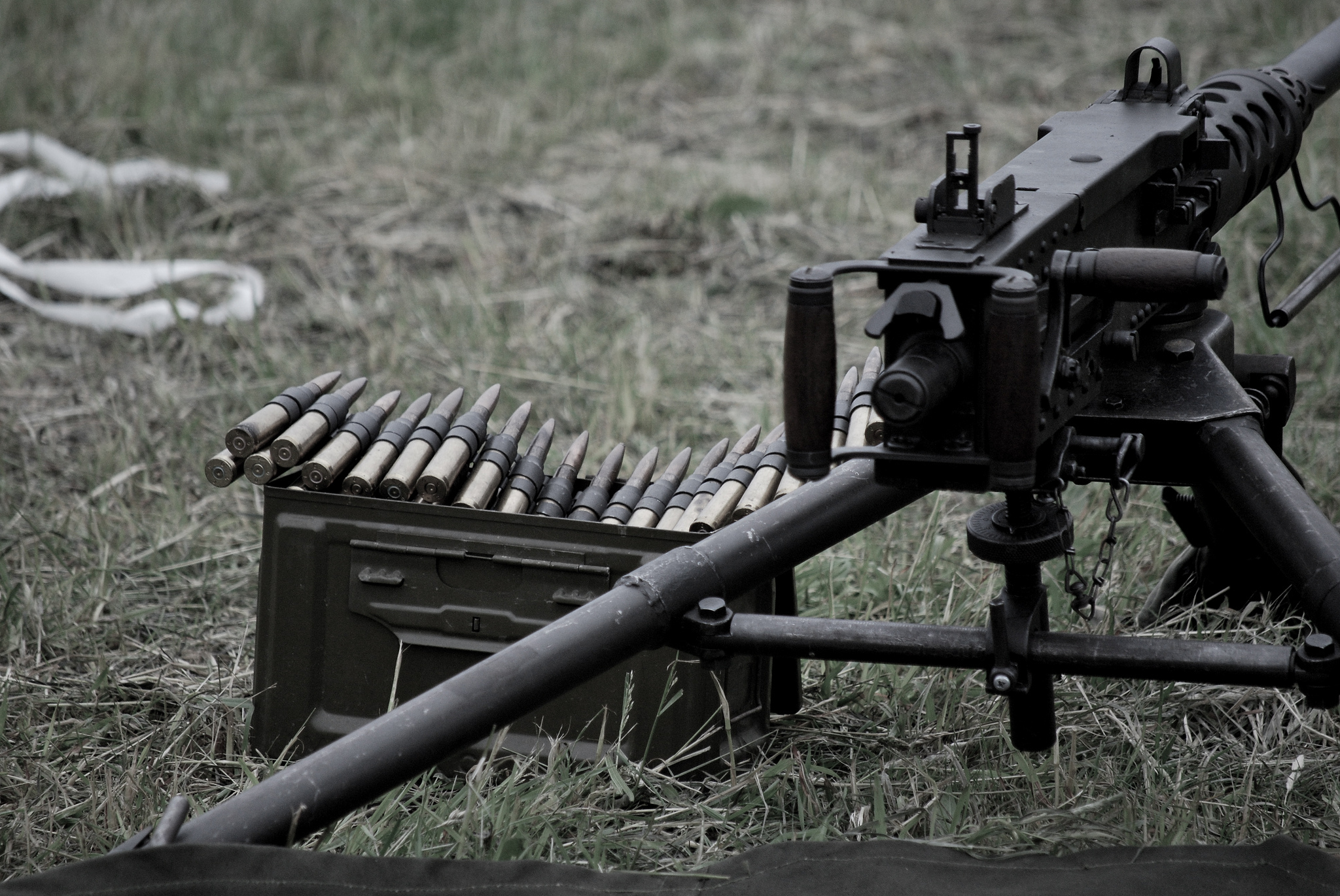Browning M2 Machine Gun Full HD Wallpaper And Background Image