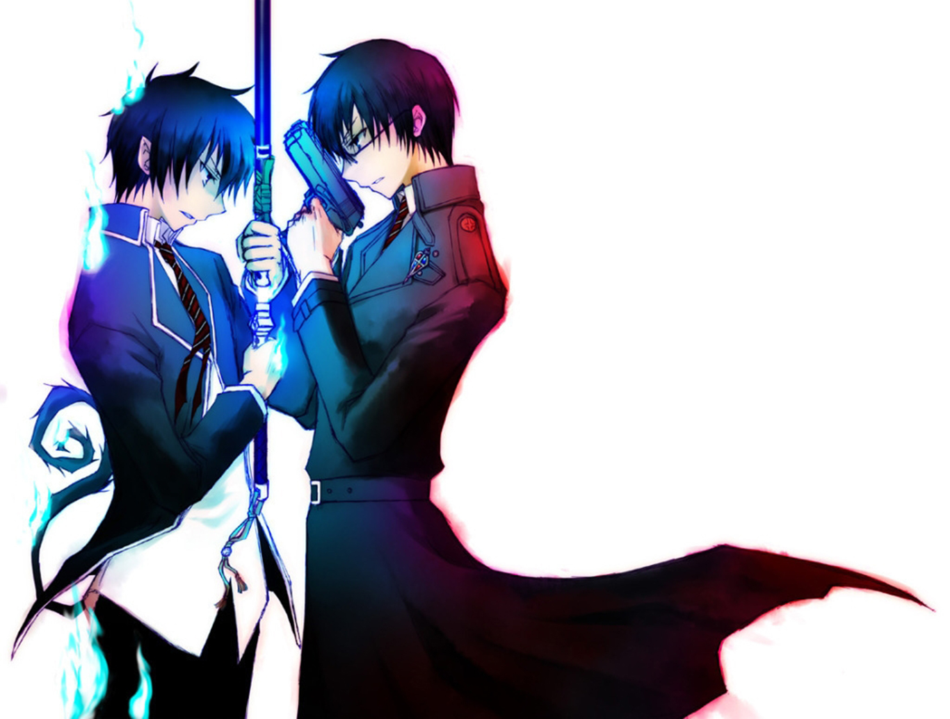 Rin And Yukio Okumura Wallpaper And Background Image 1366x1035